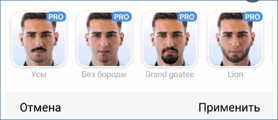 Бороды из Pro FaceApp