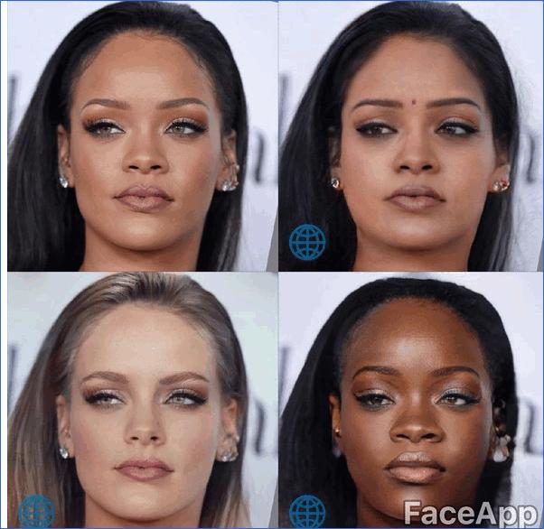 Изменение расы FaceApp