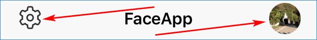 Кнопки профиля и настроек FaceApp Pro 327